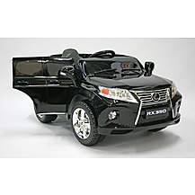image of Kids Electric Car Lexus RX350 12 Volt Black Gloss