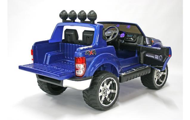 kids electric car ford ranger 12 volt blue gloss