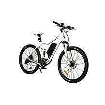 image of Oxygen MTB-X Full Suspension Electric Bike White 52cm 10.4Ah