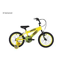 image of Bumper Digger Pavement Boys Bike Bumper Yellow