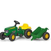 image of Rolly John Deere Tracter & Trailer Green