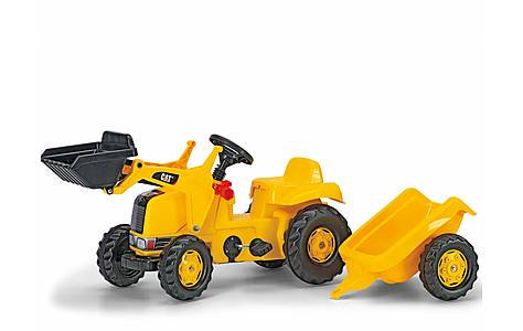 image of Rolly Kid Catepillar  Tracter With Frontload & Trailer Yellow
