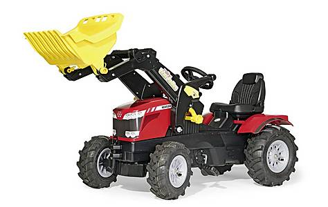 image of Rolly Mf 8650 Tractor With Frontloader And Pnuematic Tyres Red