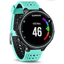 image of Garmin - Forerunner 235 With Wrist Based Hrm Black And Frost Blue