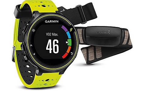 image of Garmin - Forerunner 230 With Premium Soft-strap Hrm Yellow And Black