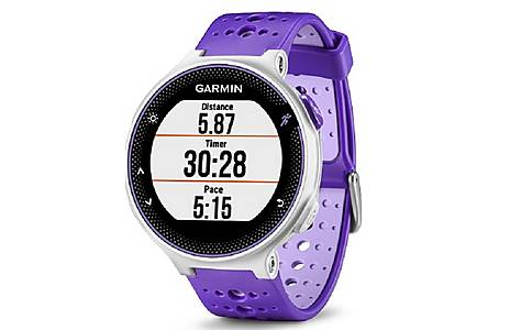 image of Garmin - Forerunner 230 With Premium Soft-strap Hrm Purple And White