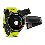 image of Garmin - Forerunner 230 With Premium Soft-strap Hrm Black And White