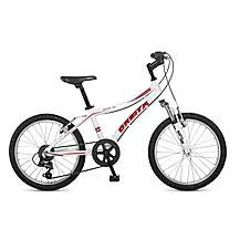image of Orbita Shark 20in Wheel 6 Speed Lightweight Alloy Front Suspension Mountain Bike - White