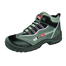 image of Scan Jaguar Grey Red Safety Hiker Boots