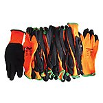 image of Scan Knitshell Thermal Gloves Orange / Black