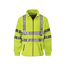 image of Scan Hi-visibility Yellow Full Zip Fleeces