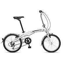 image of Orbita Evolution 7 Speed, 20 inch wheel aluminium folding bike with front suspension. - White