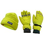 image of Scan Hi-Visibility Beanie Hat & Gloves Yellow