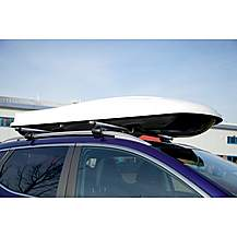 image of Summit 440 Litre Capacity Roof Box In Gloss White Finish Sum-855