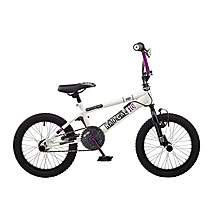 image of Rooster Radical 16in Bmx Freestyle Bike White/black/purple