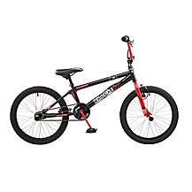 image of Rooster Radical 20in Bmx Freestyle Bike Black/red