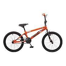 image of Rooster Radical 20in Bmx Freestyle Bike Black/orange
