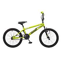 image of Rooster Radical 20in Bmx Freestyle Bike Black/green