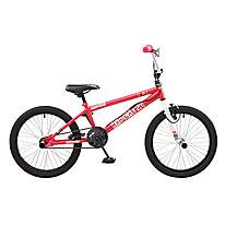 image of Rooster Radical 20in Bmx Freestyle Bike White/pink