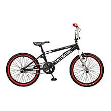 image of Rooster Big Daddy 20in Bmx Freestyle Bike Black/silver/red