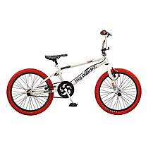image of Rooster Big Daddy 20in Bmx Freestyle Bike White/red