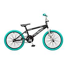 image of Rooster Big Daddy 20in Bmx Freestyle Bike Black/silver/turq
