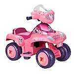 image of Feber Famosa Kids Electric 6v Quad Minnie Bowtique - Pink