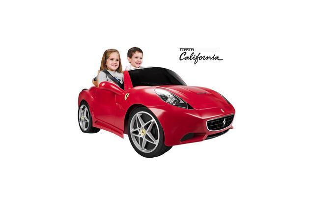 feber licensed ferrari california 2 seater 12v kids ride on cars red