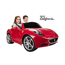 image of Feber Licensed Ferrari California 2 Seater 12v Kids Ride On Cars - Red