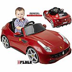 image of Feber Licensed Ferrari Ff 6v Kids Electric Ride On Cars - Red