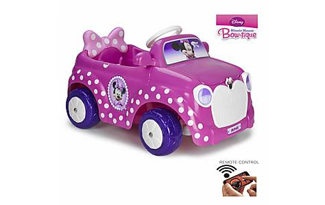 image of Feber Minnie Electric 6v Toy Car With Smartphone Remote Control - Pink