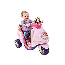 image of Feber Scooty Disney Princess Ride On 6v Trike - Pink