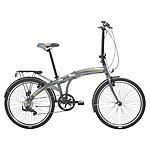 image of Indigo Flip 24, Folding Bike, Silver, Unisex