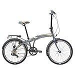 image of Indigo Flip 24, Folding Bike, Silver, Unisex