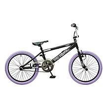 image of Rooster Big Daddy 20in Bmx Freestyle Bike Black/lilac