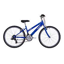 image of Raleigh Krush 24in/13in Girls Bike 18sp Starry Blue