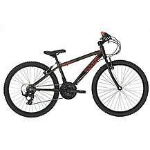 image of Raleigh Zero 24in/13in Alloy Boys Bike 18sp Black