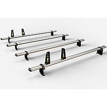 image of 4 Aluminium Roof Bars For Nissan/renault/vauxhall 2002- (incl.fitting Kit)zvg211-4
