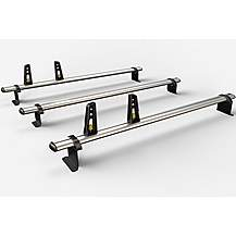 image of 3 Aluminium Roof Bars For Fiat Doblo 2010- & Vauxhall Combo 2012- (incl.fitting Kit)zvg284-3