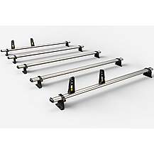image of 5 Aluminium Roof Bars For Nissan/renault/vauxhall 2010- (incl.fitting Kit)zvg286-5