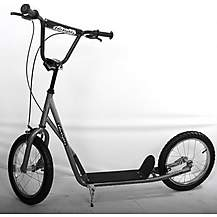 image of 1080 Adult Teen Push Uh Scooter 16inch Pneumatic Tyres Grey