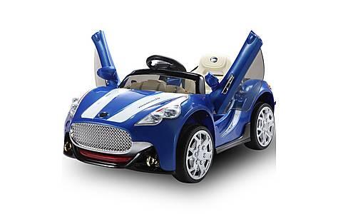 image of Maserati Style Kids 12v Electric Ride On Car - Dark Blue