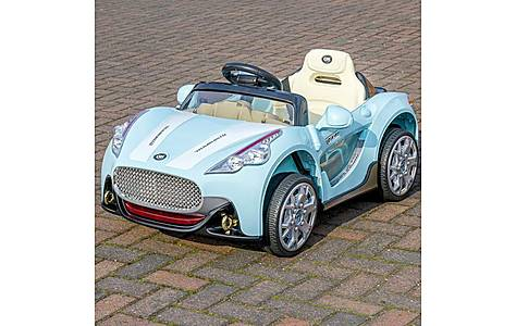 image of Maserati Electric Ride On 6v Sports Car With Parental Remote - Blue