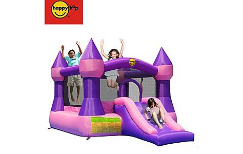 image of Large Turret 12ft Bouncy Castle With Slide - Purple