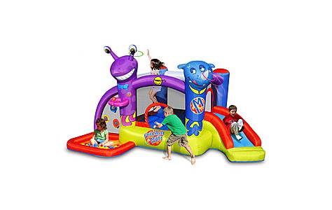 image of Friends On Mars Bouncy Castle With Slide And Ball Pit