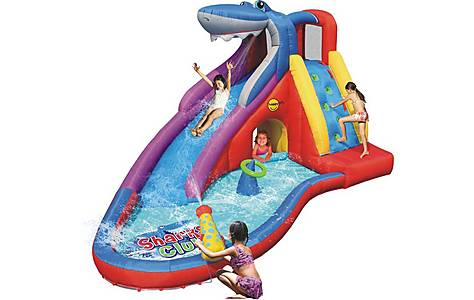 image of Sharks Club Inflatable 15ft Mega Water Slide Bouncy Castle 9417