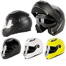 image of G-mac Glide Flip Front Motorcycle Helmet