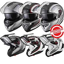 image of Black Optimus Sv Element Flip Front Motorcycle Helmet