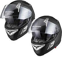 image of G-mac Flight Plain Motorcycle Helmet