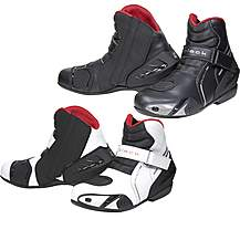 Black Circuit Short Ankle Motorcycle Boots